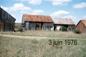 The farm buildings, June 1976