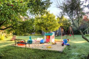 One of the playgrounds for children.