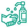 Se laver ou désinfecter les mains avant la séance de tennis.
